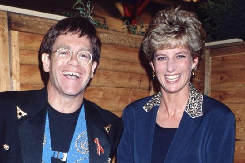 英國黛安娜王妃生前與傳奇歌手艾爾頓強是知心好友。(取自艾爾頓強IG)