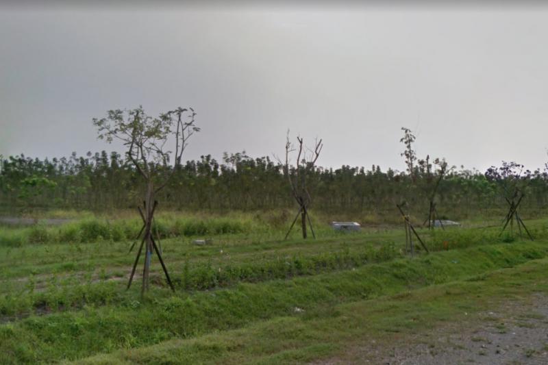 20191023-台糖為了配合政府2025年太陽光電設置容量20GW目標,準備將提供1.2萬公頃「平地森林」,作為民間業者太陽光電設置場。圖為台糖四林農地。(取自google地圖)