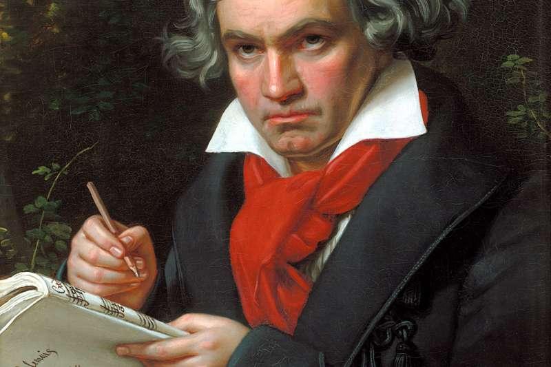 有「樂聖」之享譽的天才音樂家貝多芬。(約瑟夫·卡爾·施蒂勒@wikipedia)