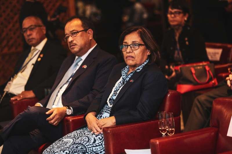 20191025-馬紹爾群島總統海妮25日出席中華民國對外貿易發展協會與馬紹爾群島商務投資暨觀光辦公室簽署合作備忘錄儀式。(簡必丞攝)