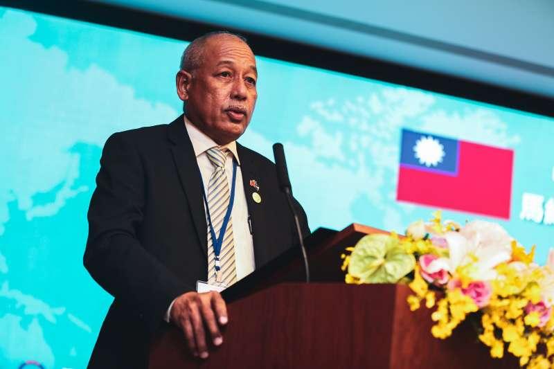 20191025-馬紹爾群島商務部長莫塔若25日出席中華民國對外貿易發展協會與馬紹爾群島商務投資暨觀光辦公室簽署合作備忘錄儀式。(簡必丞攝)