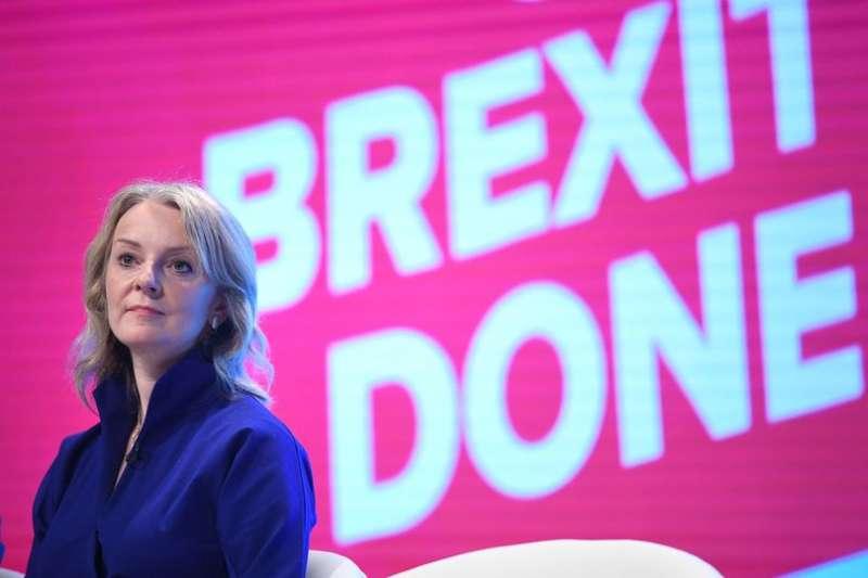 英國國際貿易大臣卓慧思(Liz Truss)。(AP)