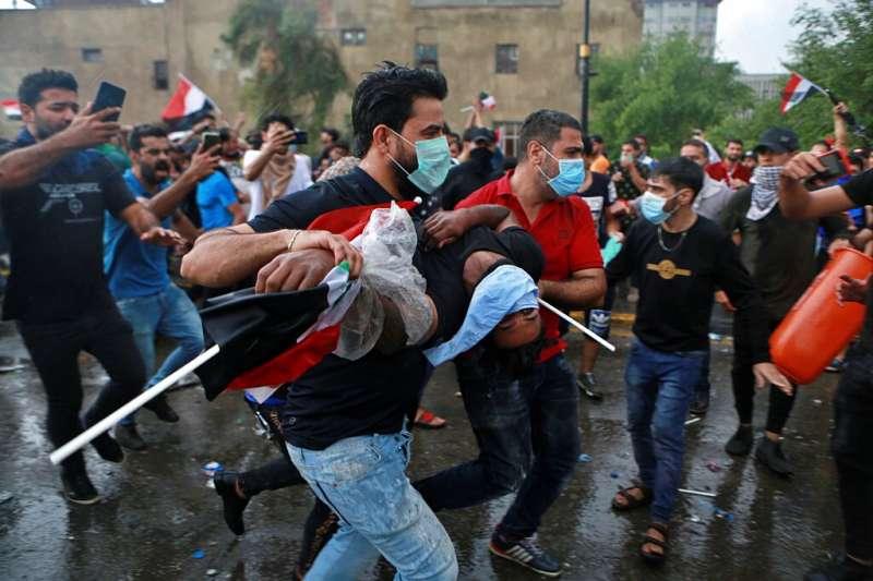 10月25日,伊拉克全國性反政府示威再起。(AP)