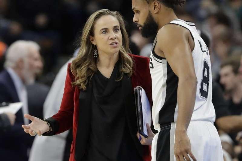 哈蒙是NBA最著名的女教頭。(美聯社)