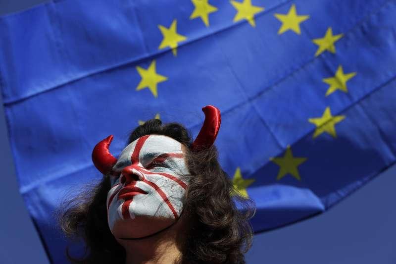 反脫歐民眾(AP)