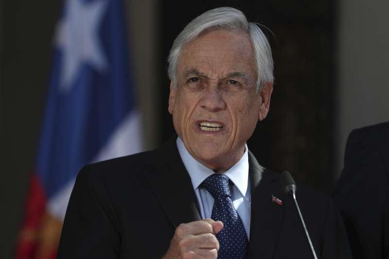 2019年10月,南美洲大國智利發生動亂,皮涅拉總統上電視發表談話(AP)