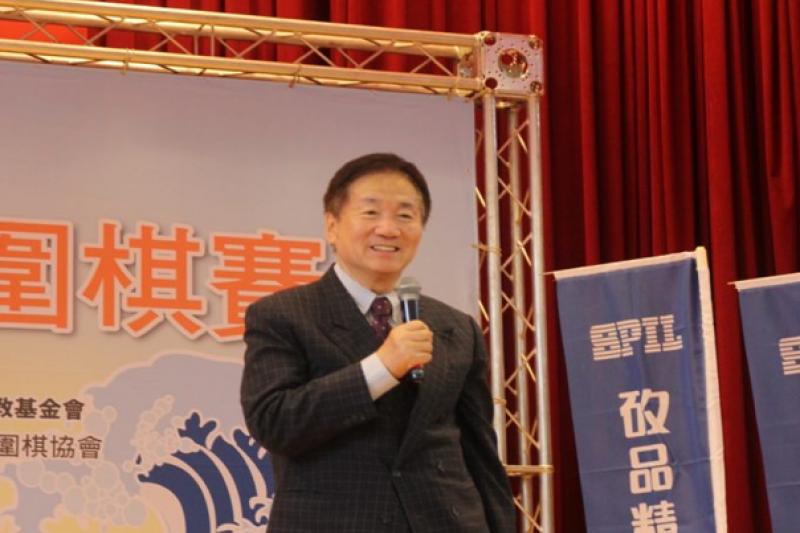 旅日林海峰國手:長青圍棋很有意義,一定要推動。(海峰棋院)