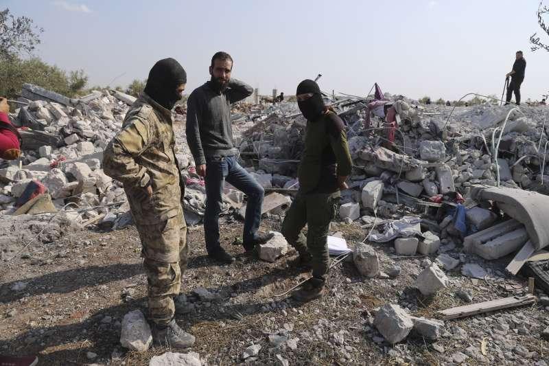 2019年10月26日,美軍在敘利亞西北部獵殺伊斯蘭國領導人巴格達迪(AP)