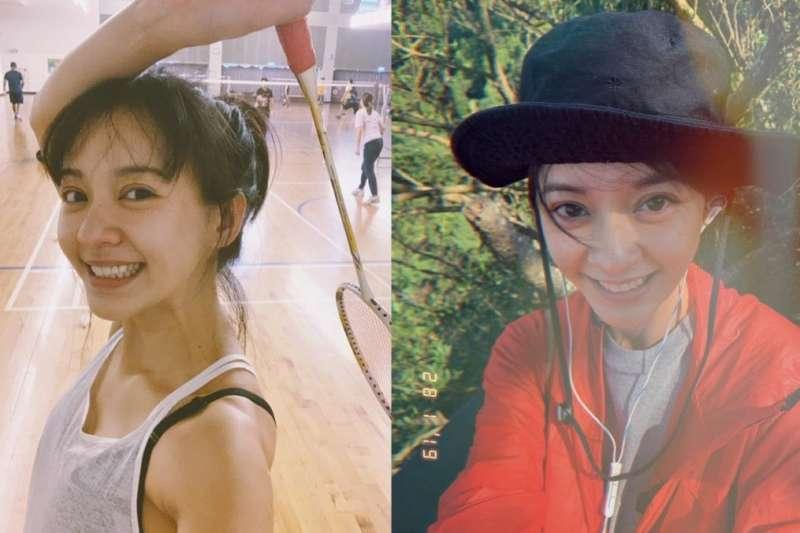 運動是陳意涵最常用的紓壓方式,在臉書上常看見她分享自己做瑜珈、登山、打球等照片。(圖/取自陳意涵 YiHan Chen粉絲專頁)
