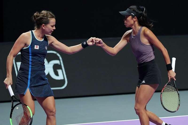 謝淑薇與搭檔史翠可娃在澳網闖進女雙決賽。 (圖片取自WTA Twitter)
