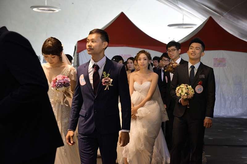 中鋼集團結婚典禮,共有128對新人參加(圖片來源:中鋼網站)