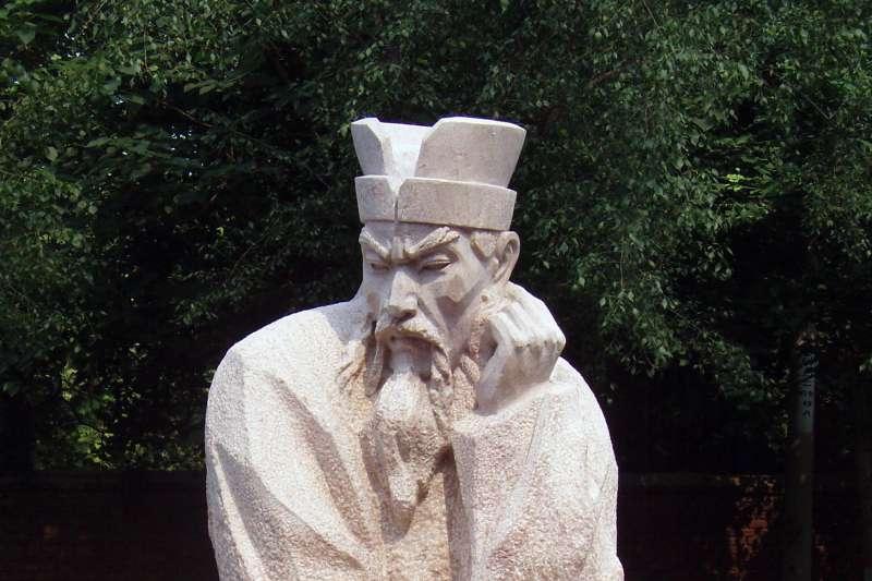 先秦法家思想家商鞅像(圖/維基百科)。