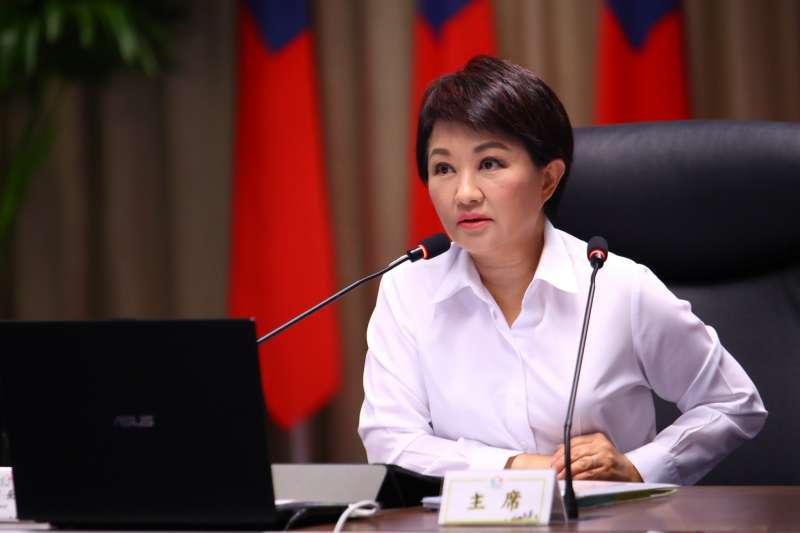 台中市長盧秀燕在市政會議中強調,台中市燃煤工業鍋爐預計在111年底全數退場。(圖/臺中市政府提供)