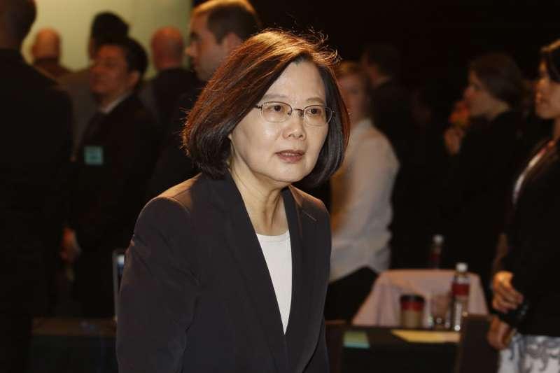 學者林環牆指出,台灣經濟其實沒有那麽強,蔡英文政府並沒有把真相告訴台灣老百姓。圖為總統蔡英文。(資料照,郭晉瑋攝)