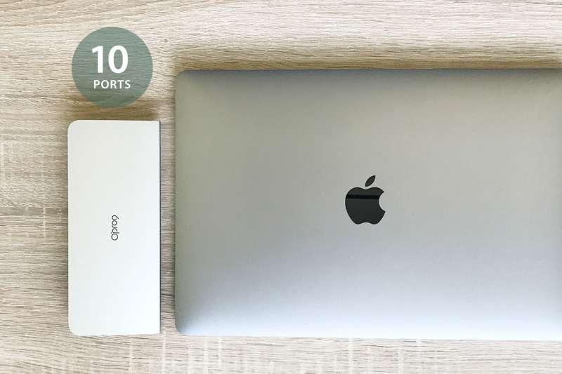 圖一、Opro9 針對商務人士及遠端工作者需求,推出「USB-C 10埠多功能轉接器」(圖 / Opro9)