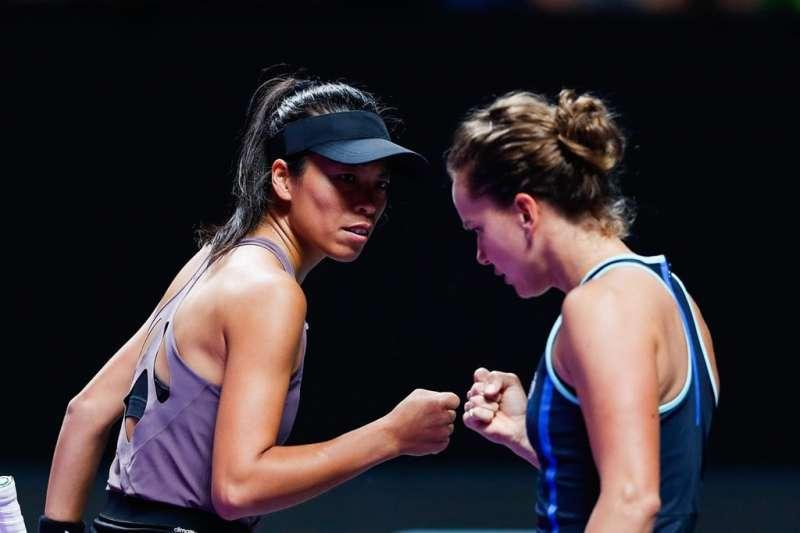 謝淑薇與史翠可娃挺進杜哈女網賽四強。(資料照,圖取自facebook.com/WTAFinals)