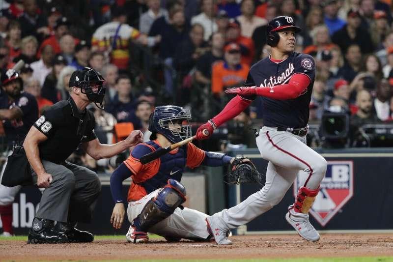 美國職棒大聯盟MLB華盛頓國民30日奪得隊史首座世界大賽冠軍,陣中少年強打蘇鐸7戰打回7分打點。(美聯社)