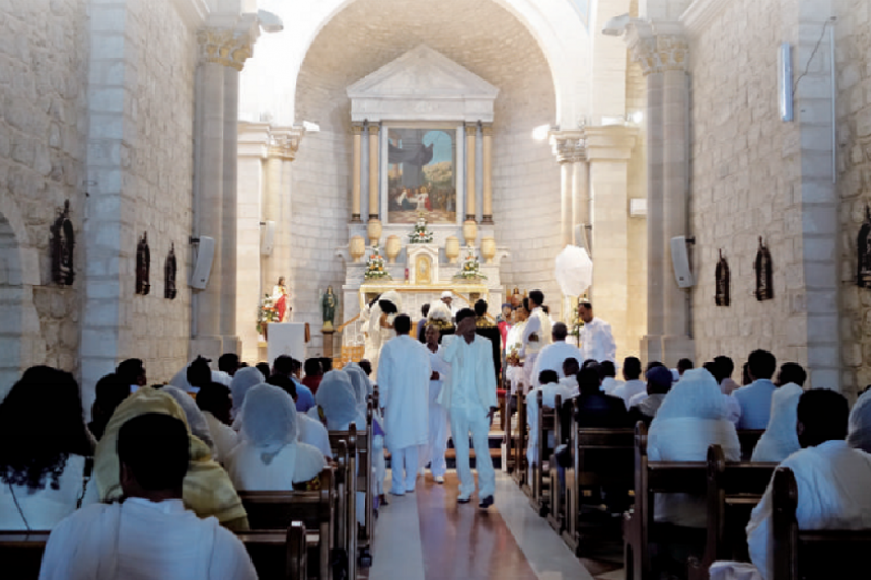 迦拿婚禮教堂。據信這裡是耶穌第一次顯現神蹟的地方。(三民提供)