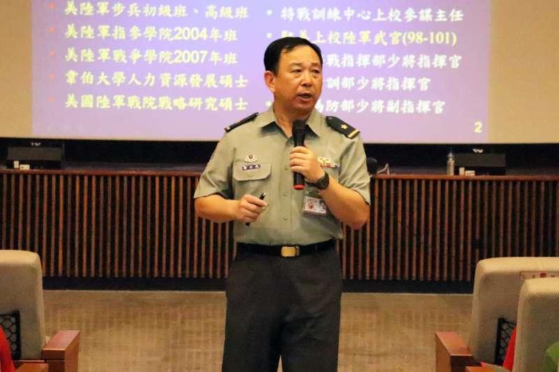 20191031-陸軍指參學院院長郭力升(見圖)少將,將調陸軍航空特戰指揮部,接任劉協慶留下的副指揮官職缺。(國防大學提供)