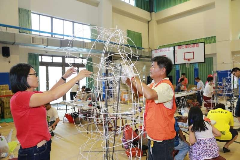 台中市府教育局舉辦台灣燈會全國花燈競賽。(圖/台中市府教育局)