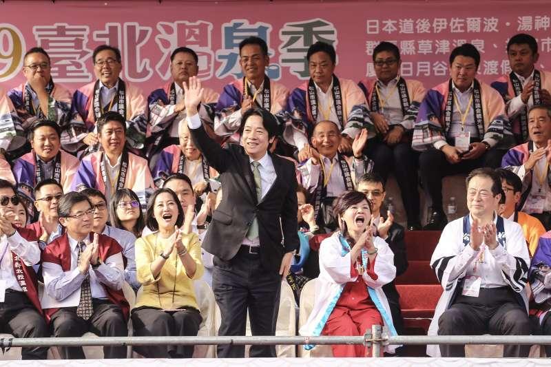 20191101-前行政院長賴清德出席北投溫泉祭開幕儀式。(陳品佑攝)