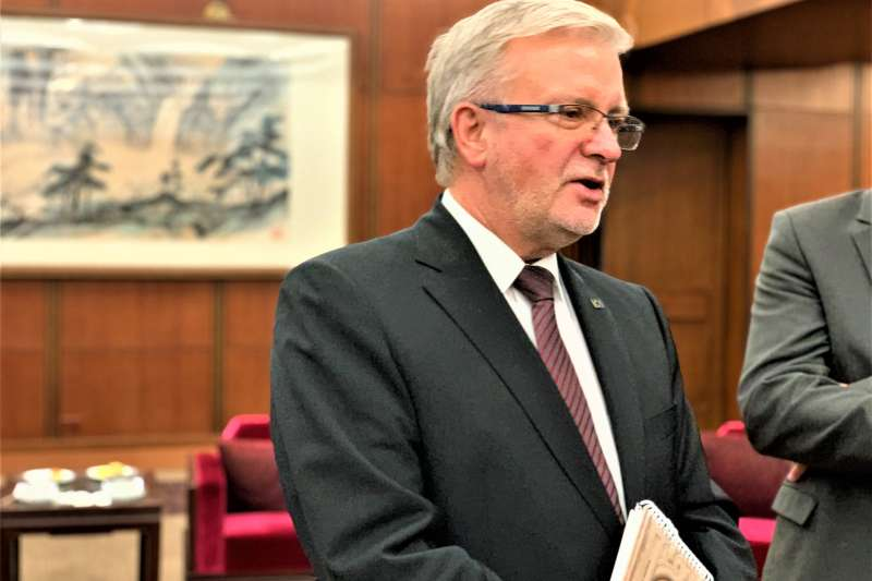 歐洲議會友台小組主席凱勒(簡恒宇攝)