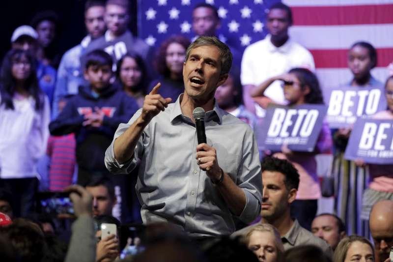 美國民主黨新秀、前聯邦德州眾議員歐洛克(Beto O'Rourke)(AP)