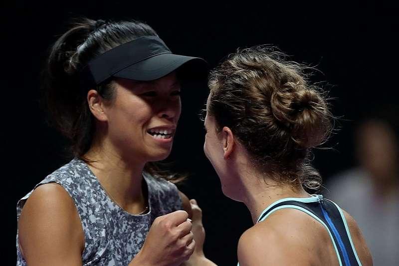 謝淑薇與史翠可娃連續兩年闖進杜拜公開賽冠軍賽。 (資料照,圖片取自WTA推特)