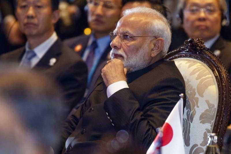 印度總理莫迪被認為是擋住RCEP簽訂的一顆大石頭。(美聯社)