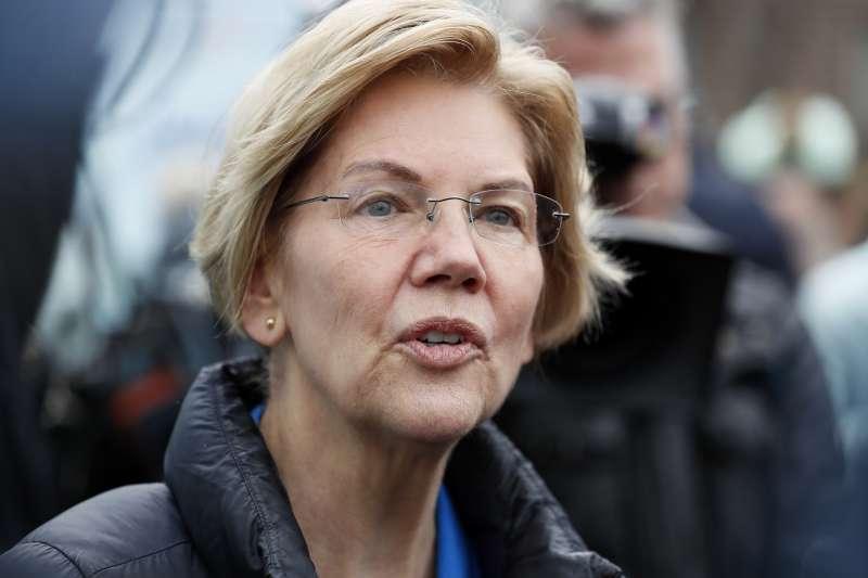2020年美國總統大選,民主黨總統參選人華倫(Elizabeth Warren)(AP)