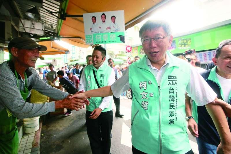 柯文哲組台灣民眾黨原以為可輕易併吞第三勢力地盤。(柯承惠攝)