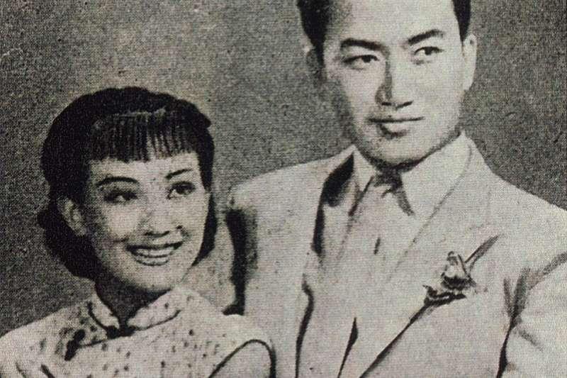 周璇與嚴華(1940年)(編者蔡登山提供)