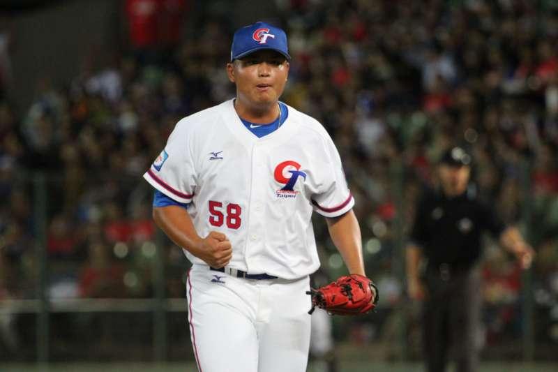 胡智為面對日本隊主投3.2局僅失1分,有望在循環賽擔任先發。 (圖片取自中職粉絲團)