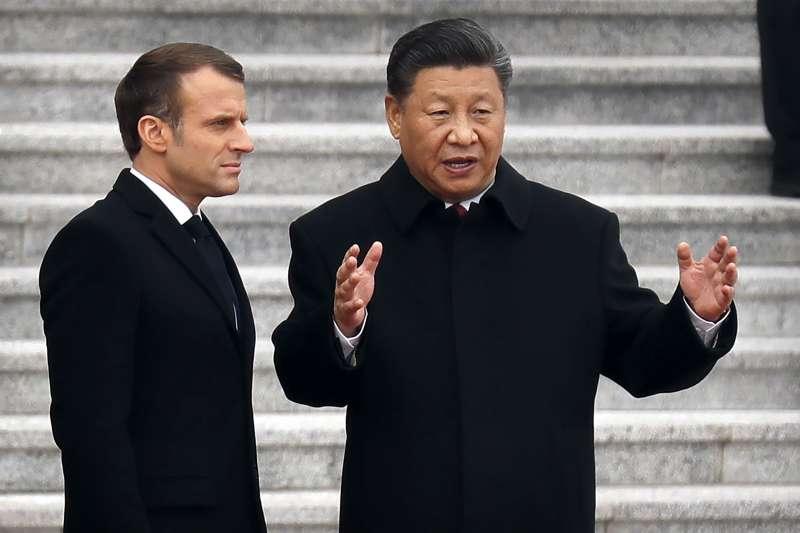 2019年11月,法國總統馬克宏訪問中國,會晤中國國家主席習近平(AP)