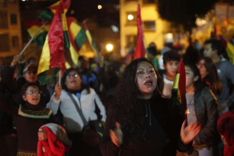 2019年玻利維亞總統選舉傳出嚴重舞弊,引爆大規模示威(AP)