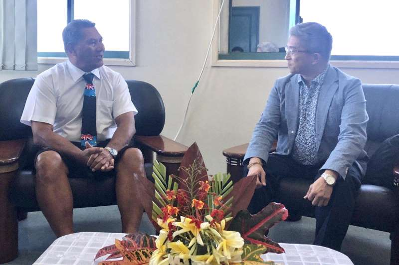 我國外交政次徐斯儉與吐瓦魯總理那塔諾會面(外交部提供)