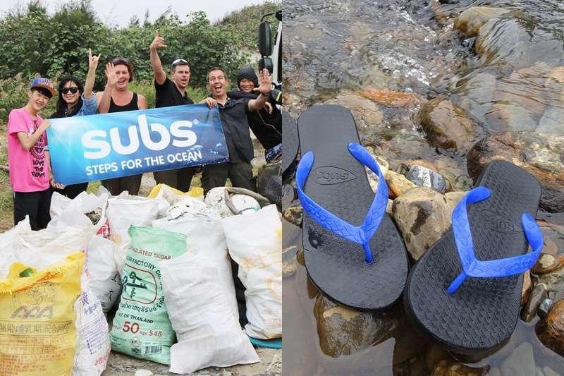 他們用海廢料做成夾腳拖。(圖/Subs@facebook)