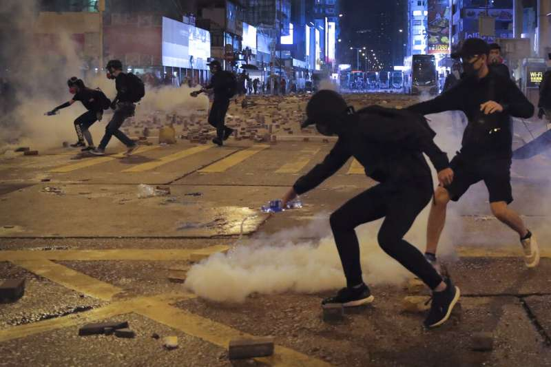 香港「反送中」抗爭。(美聯社)
