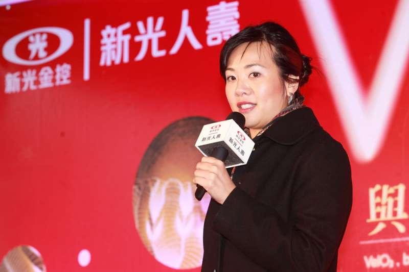 吳欣盈轉行從政,自薦競選台灣民眾黨不分區立委,話題不會少。(郭晉瑋攝)