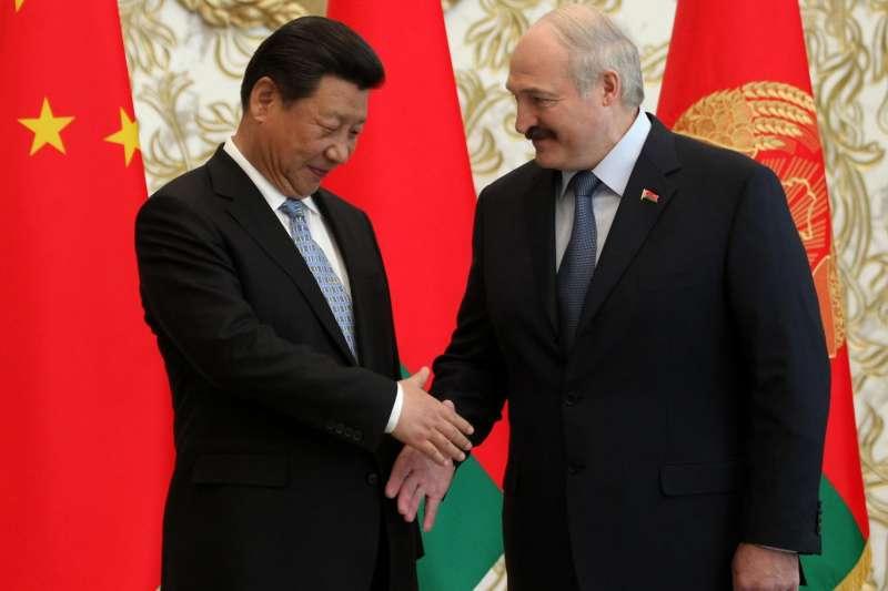 中國國家主席習近平與白羅斯總統盧卡申科(AP)