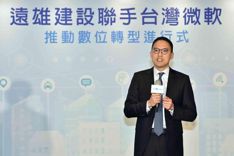 台灣微軟總經理孫基康表示,微軟擁有協助眾多產業的轉型經驗,能幫助事業範疇遍布多產業的遠雄找到最適切的轉型切入點。圖為台灣微軟總經理孫基康 (圖/台灣微軟)
