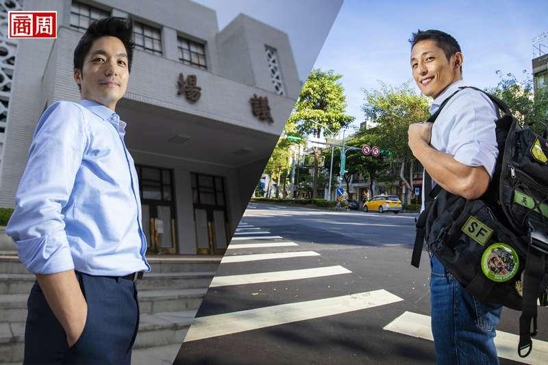現任立委蔣萬安(左)與民進黨立委參選人吳怡農(右)。(攝影者.郭涵羚)