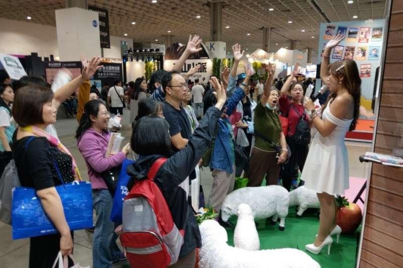退輔會在台北旅展期間以『農林Farm四季』為主題,繽紛的視覺加上季節特色展現農林之美,吸引民眾爭相體驗。(圖/退輔會提供)