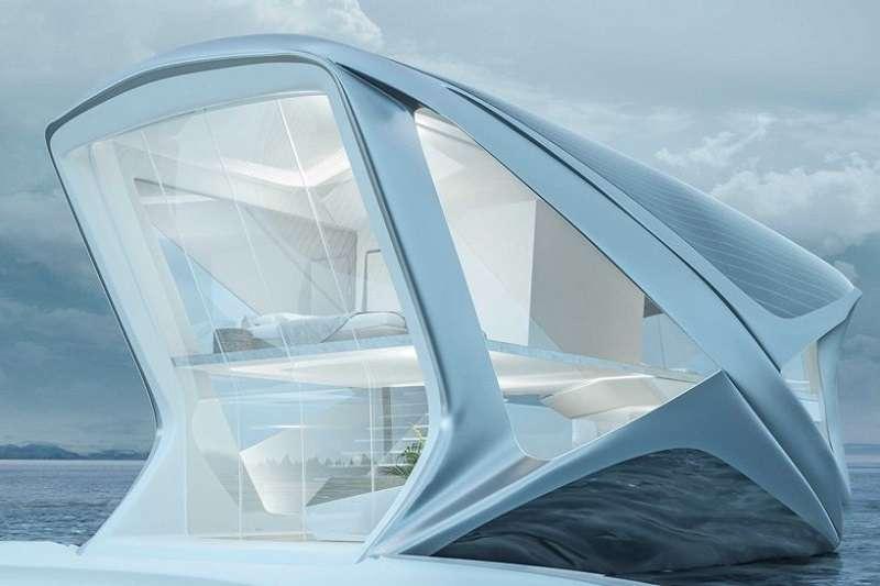 既然海平面上升將帶給環境不可逆的變化,波蘭設計師Wojciech Morsztyn提出了「海洋社區」的概念,透過能在海洋移動的船屋,建立新的城市聚落作為解決方案。(圖/瘋設計)