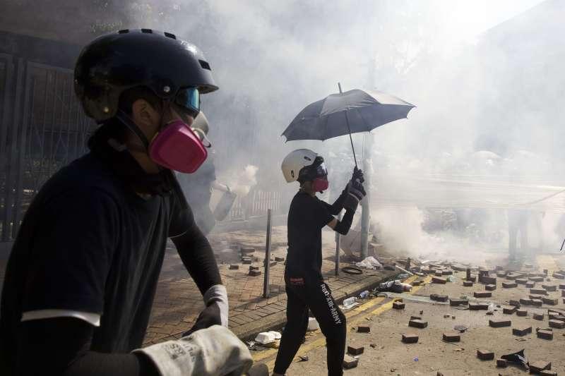 2019年11月,香港反送中示威抗議(AP)