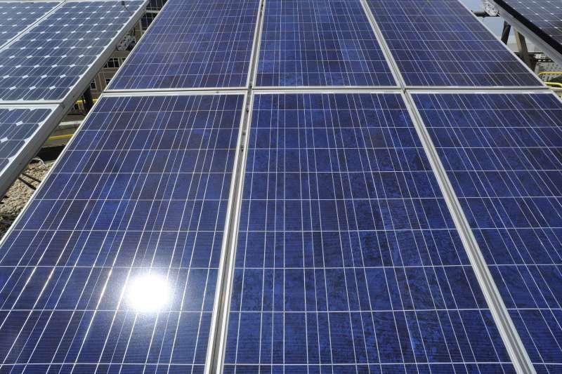 世界能源展望報告:位於美國阿拉巴馬州的太陽能發電廠。(AP)