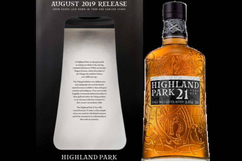 封藏多年重磅回歸:高原騎士21年單一麥芽威士忌。(圖/高原騎士提供)