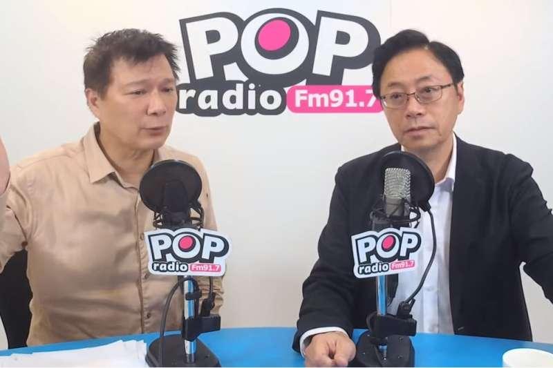 國民黨副總統參選人張善政今日下午接受廣播節目專訪。(截自《POP大國民》)