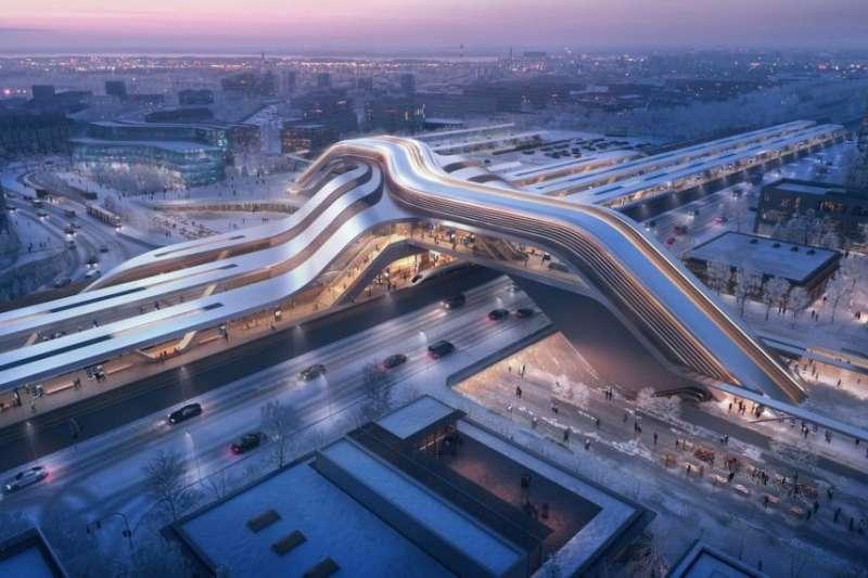Zaha Hadid建築事務所以流通路徑構思,讓旅客能更輕鬆地在空間裡穿梭。(圖/瘋設計)