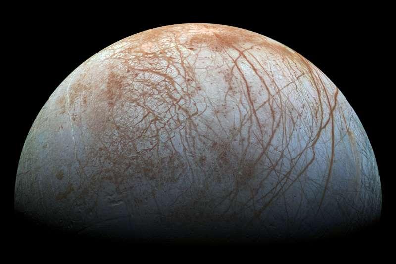 木星衛星「木衛二」(Europa,歐羅巴)(NASA)